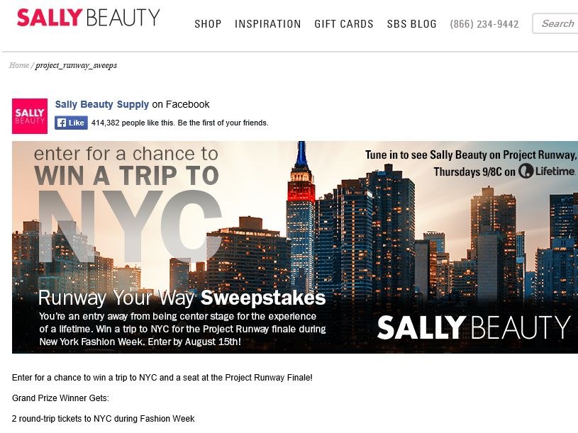 Sally Beauty Runway Your Way Sweepstakes