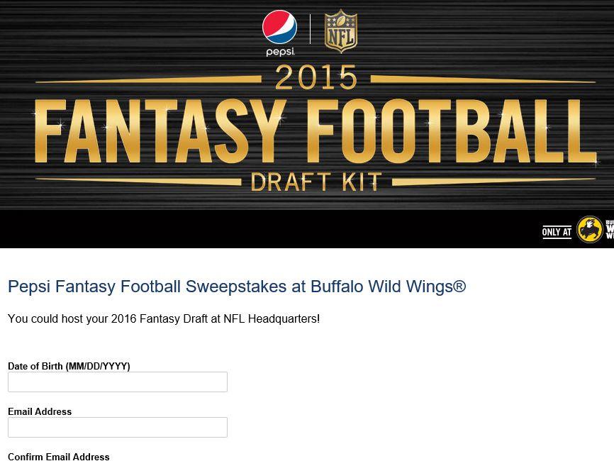 Fantasy Football Sweepstakes