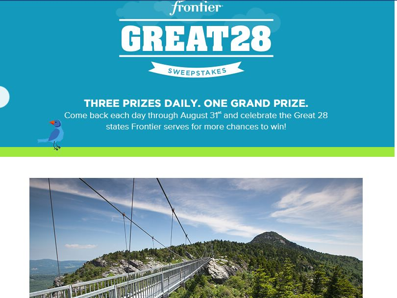 The Frontier Communications Great 28 Sweepstakes