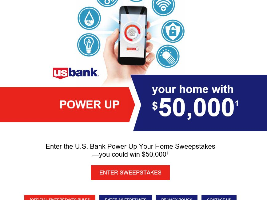 The US Bank Power Up Your Home Sweepstakes