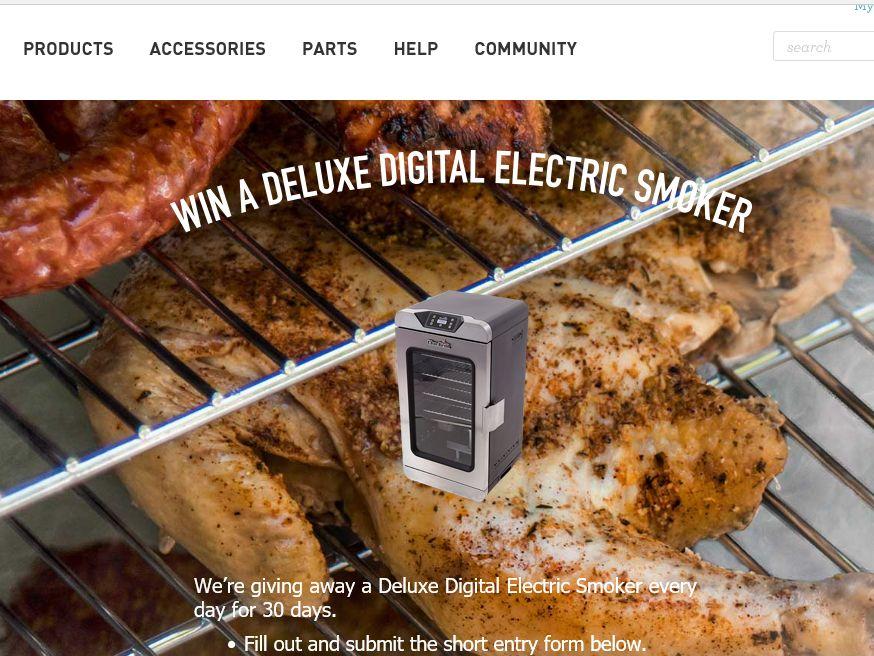 Char-Broil Digital Smoker Sweepstakes
