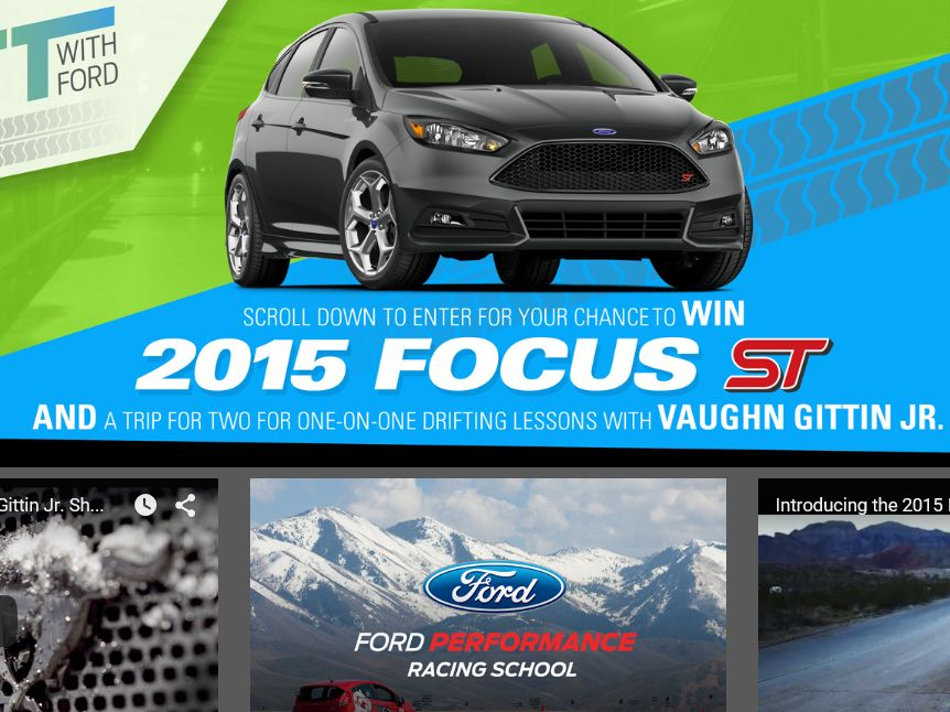 The Drift with Ford Sweepstakes