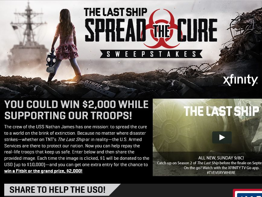 The Last Ship Spread the Cure Sweepstakes