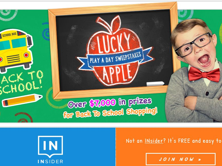 Lucky Apple Play a Day Sweepstakes