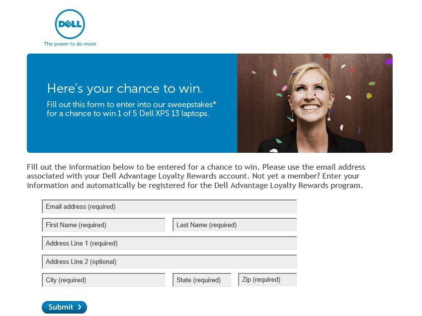 Dell Advantage Loyalty Rewards – 5 Million Members Sweepstakes