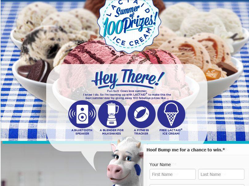 LACTAID Ice Cream Sweepstakes