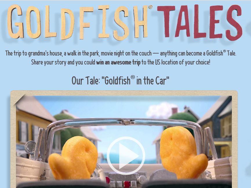 """""""Share Your Goldfish Tales 2"""" Sweepstakes"""