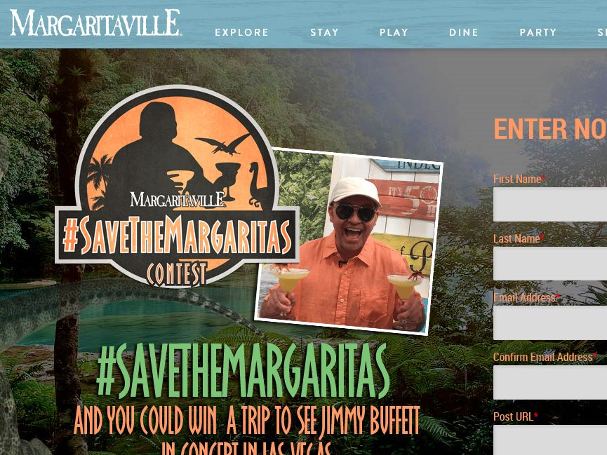 "The Margaritaville ""#SaveTheMargaritas"" Contest"