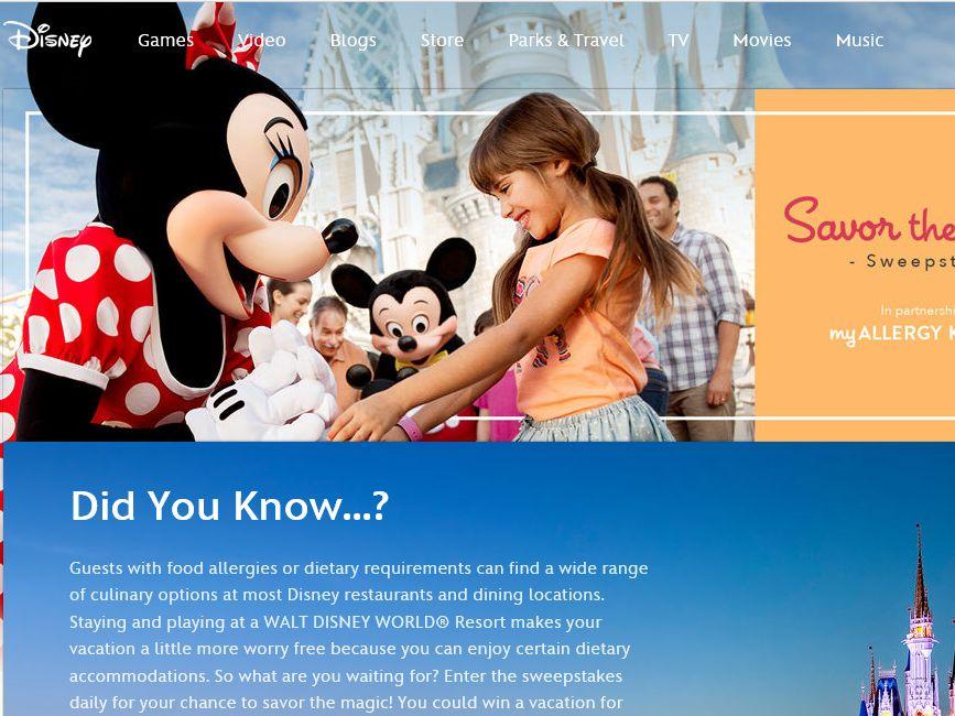 Disney Savor the Magic Sweepstakes
