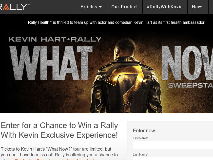 "The Kevin Hart and Rally ""What Now?"" Sweepstakes"