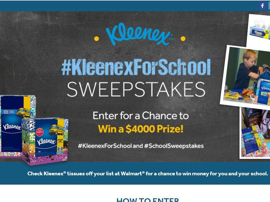 #KleenexForSchool Sweepstakes