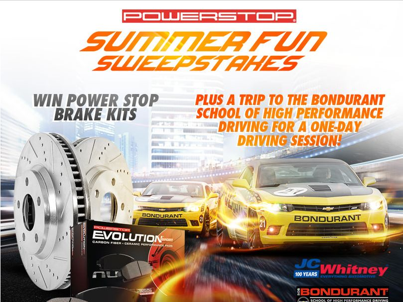 The JCWhitney.com – Power Stop Summer Fun Sweepstakes