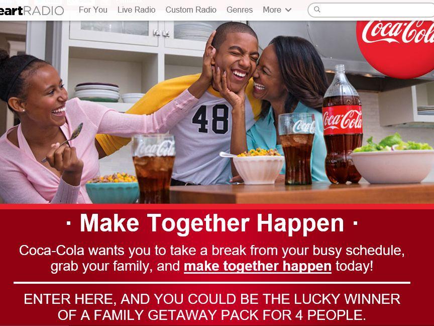 iHeartRadio/Coca-Cola Make Together Happen Sweepstakes