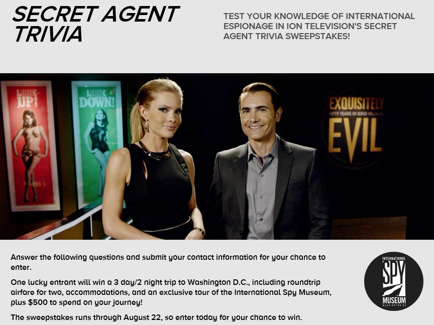 ION Television's Secret Agent Trivia Sweepstakes