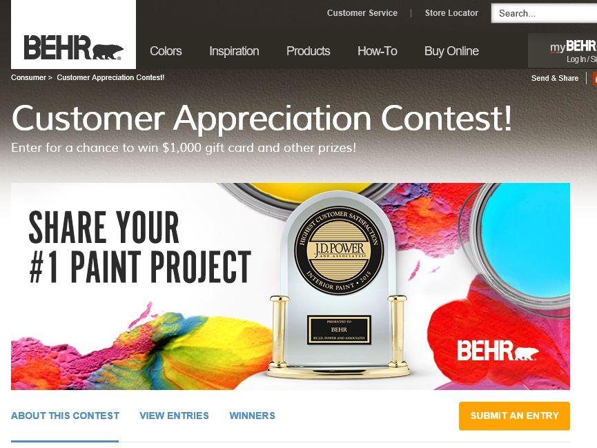 The BEHR #1 Interior Paint Contest