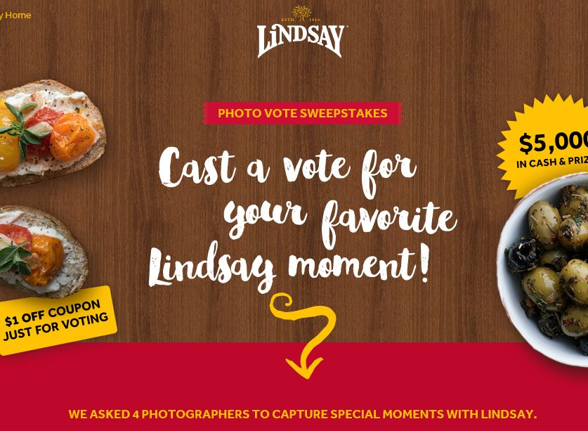The Lindsay Photo Vote Sweepstakes