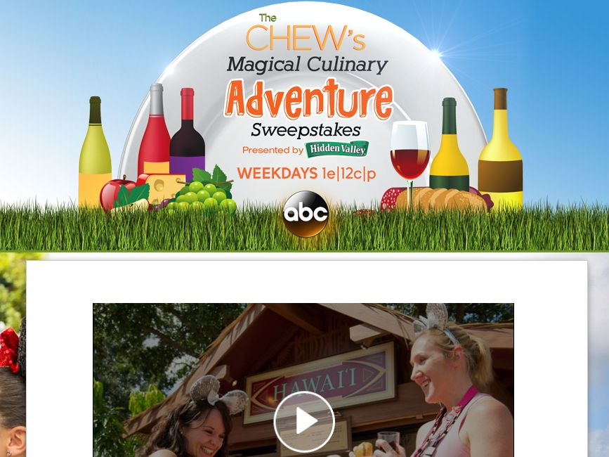 """The Chew's """"Magical Culinary Adventure"""" Sweepstakes"""