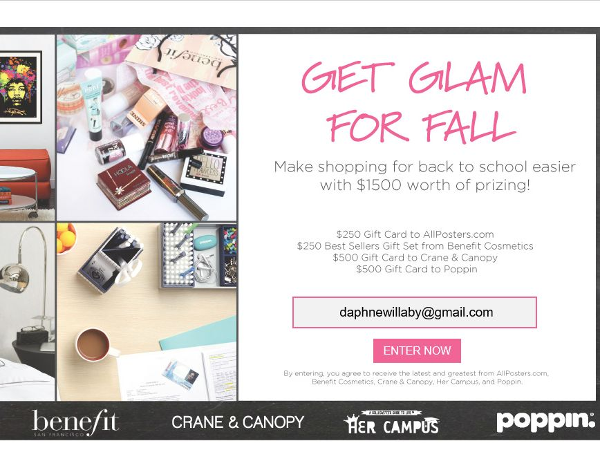 Crane & Canopy Get Glam for Fall Sweepstakes