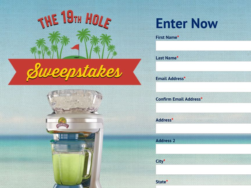 """The Margaritaville Brand """"19th Hole"""" Sweepstakes"""
