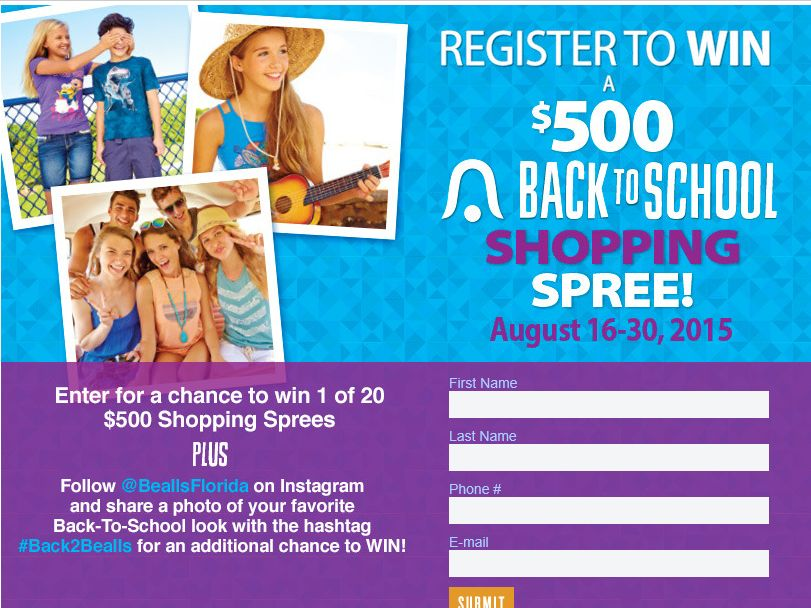 Bealls Back to School Shopping Spree Sweepstakes