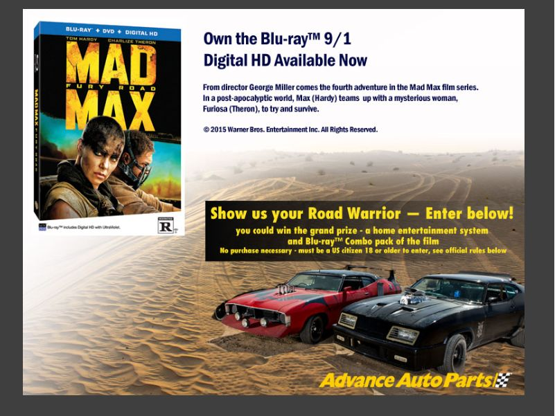 Advance Auto Parts Road Warrior Giveaway Sweepstakes