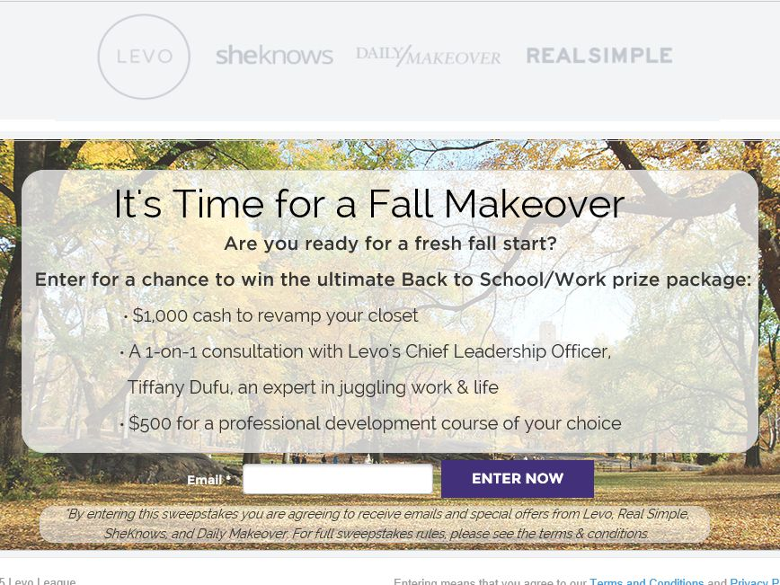 """The Levo League  """"Back to School"""" Giveaway Sweepstakes"""