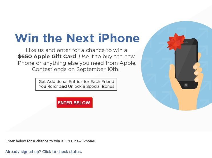 NextWorth Win The Next iPhone Apple Gift Card Sweepstakes