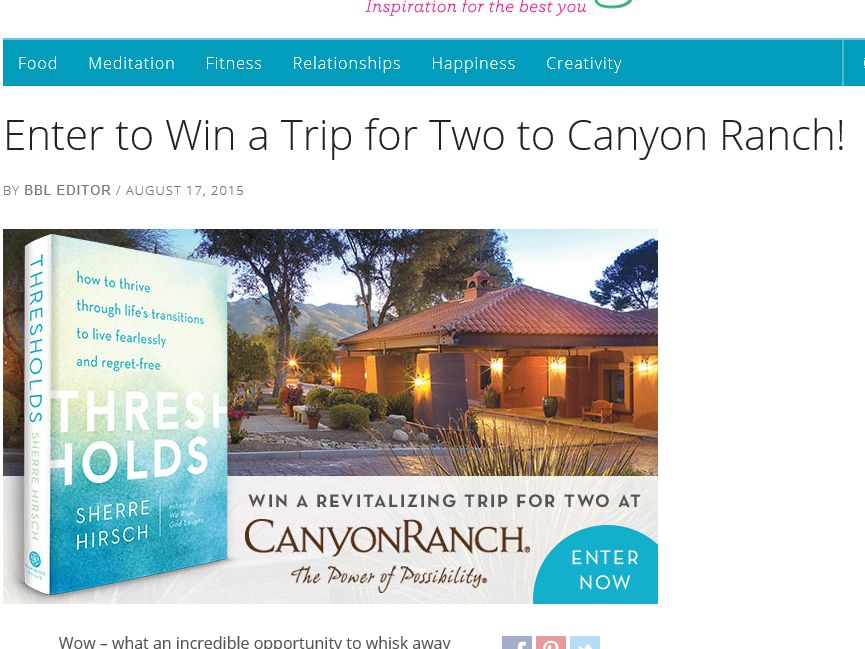 Books for Better Living Threshold Sweepstakes