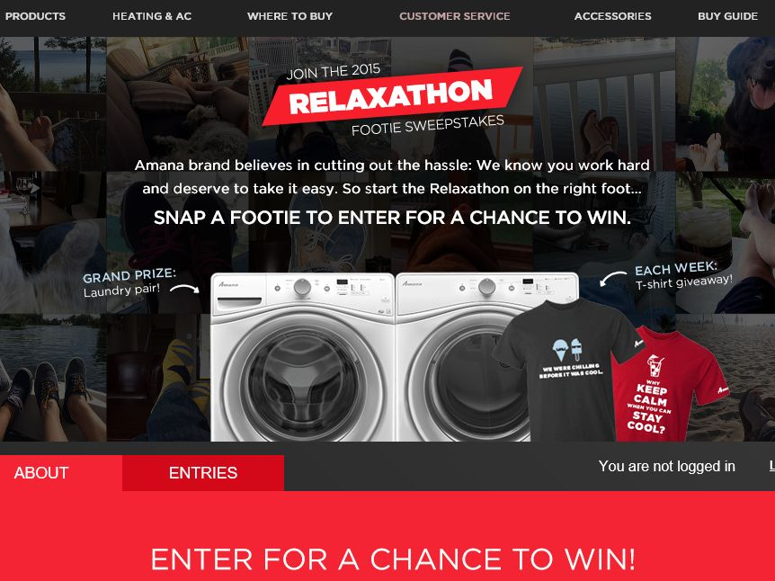 The Amana Relaxathon Footie Promotion