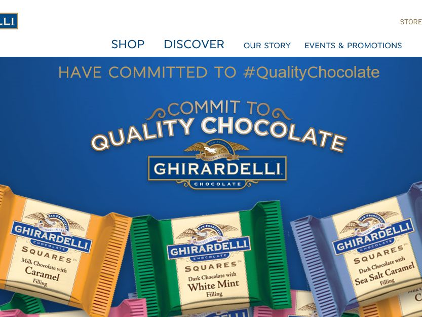 Ghirardelli Commit to Quality Chocolate Sweepstakes