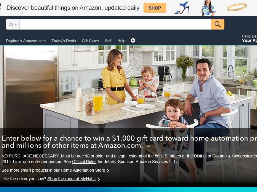 The Amazon.com Smart Home Sweepstakes
