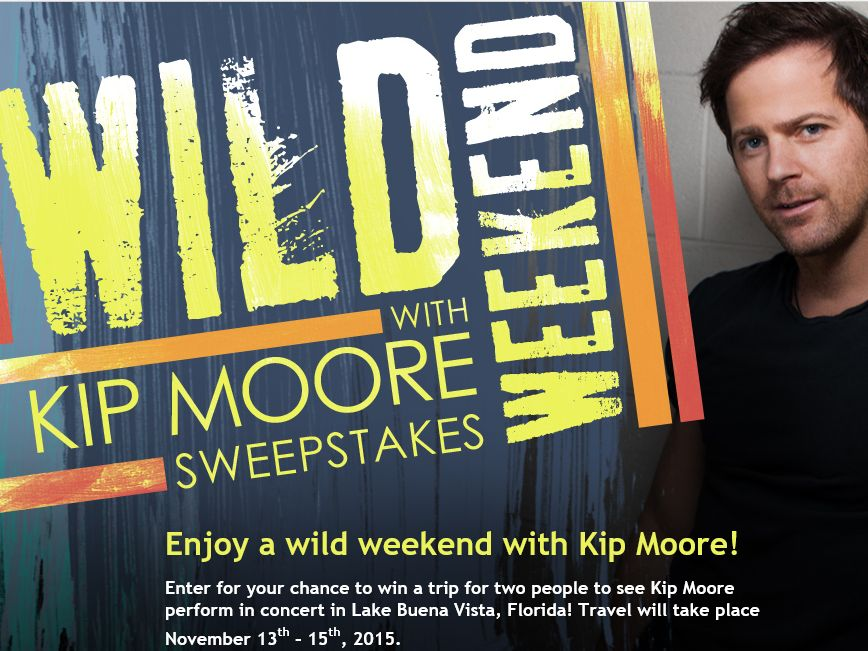 CMT Wild Weekend with Kip Moore Sweepstakes