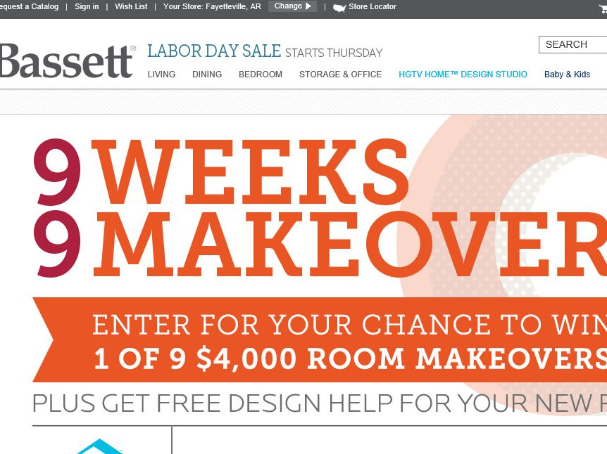 "The Bassett ""9 Weeks, 9 Makeovers"" Sweepstakes"