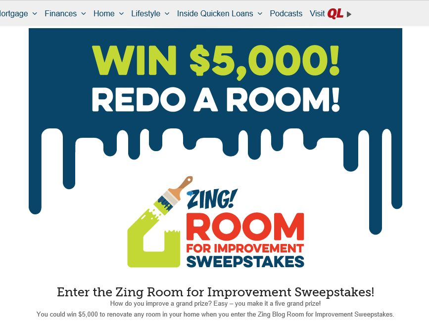 Zing 2015 Room for Improvement Sweepstakes