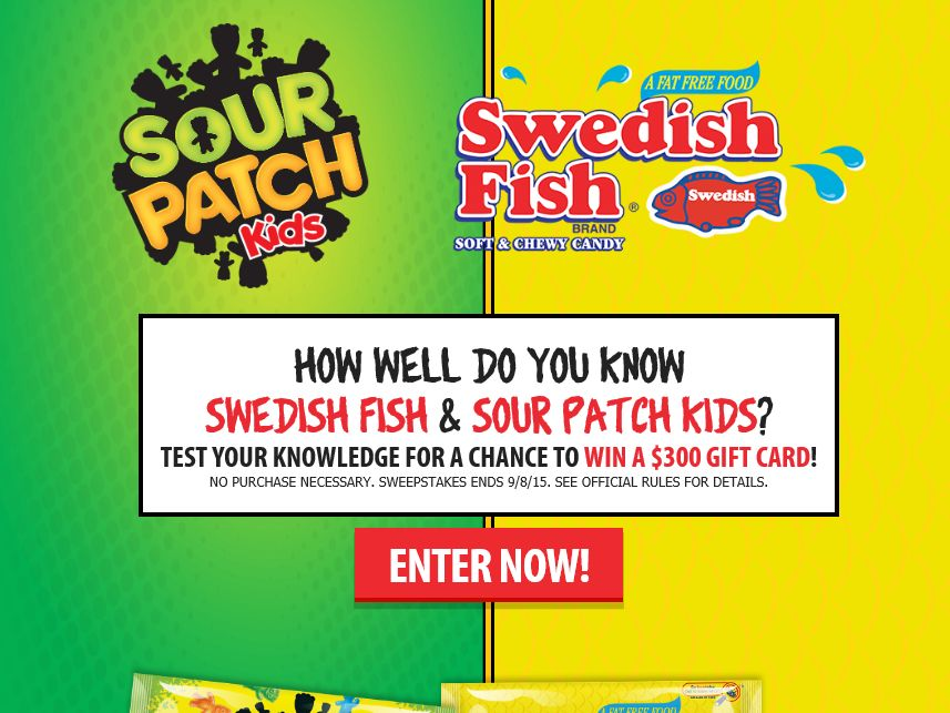 SWEDISH FISH & SOUR PATCH KIDS Sweepstakes