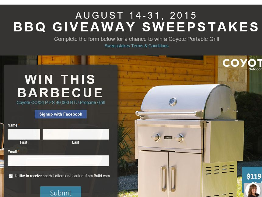"""Build.com """"BBQ Giveaway"""" Sweepstakes"""