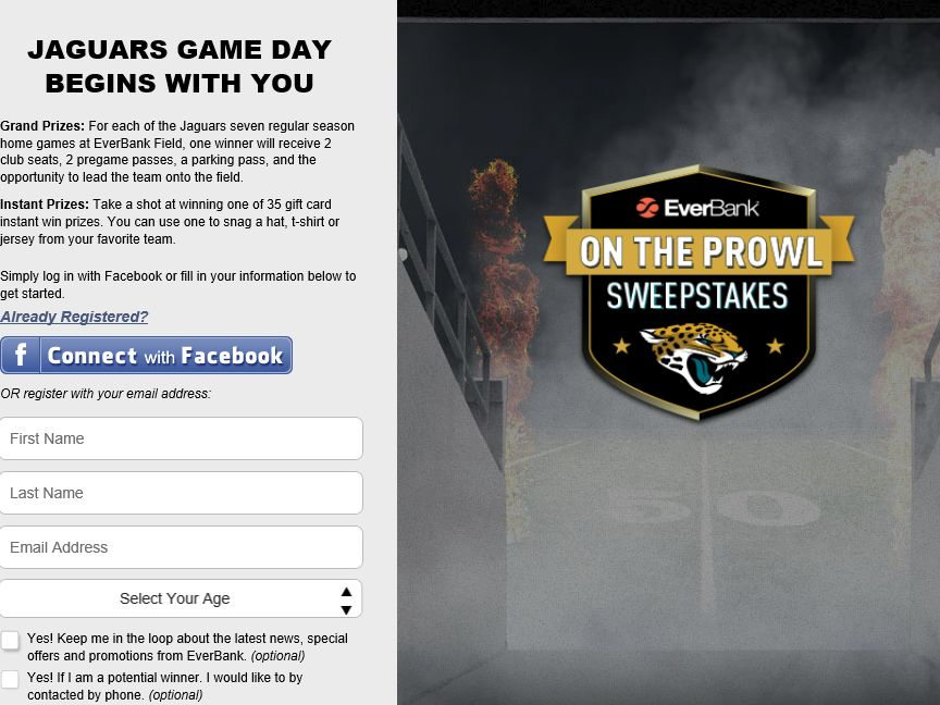 2015 EverBank On the Prowl Sweepstakes