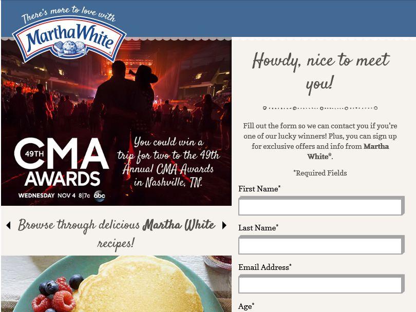 The Martha White CMA Promotion