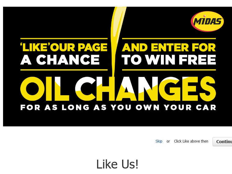 """MIDAS """"Win Oil Changes For As Long As You Own Your Car"""" Sweepstakes"""
