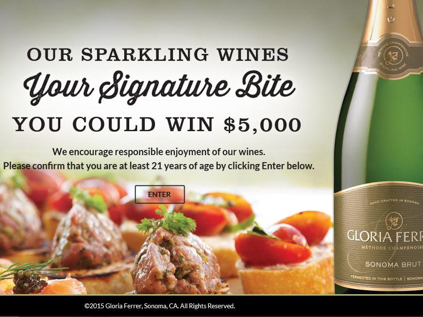 The Gloria Ferrer Glorious Bites Appetizer Challenge Sweepstakes