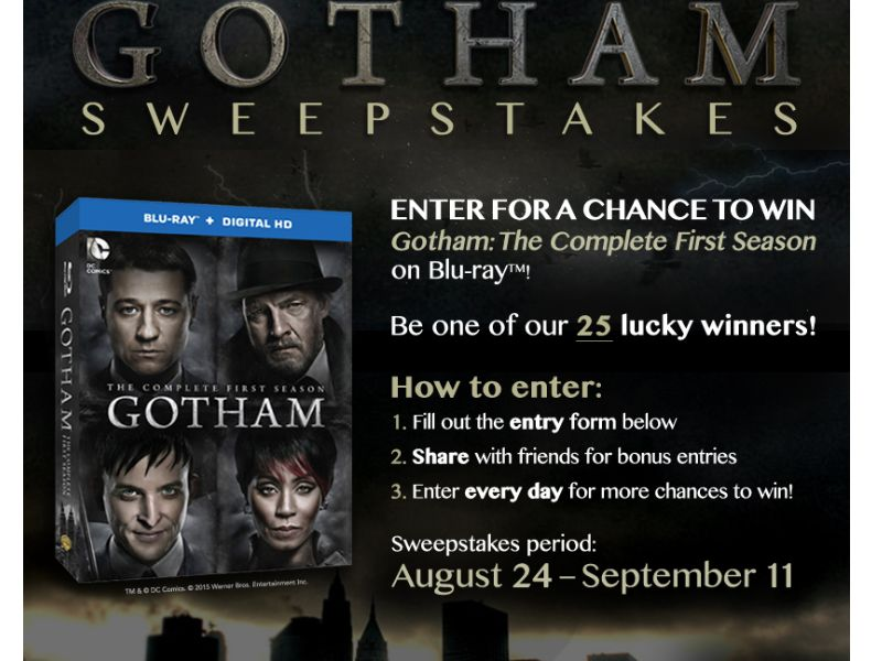 The TV Insider / Gotham Sweepstakes