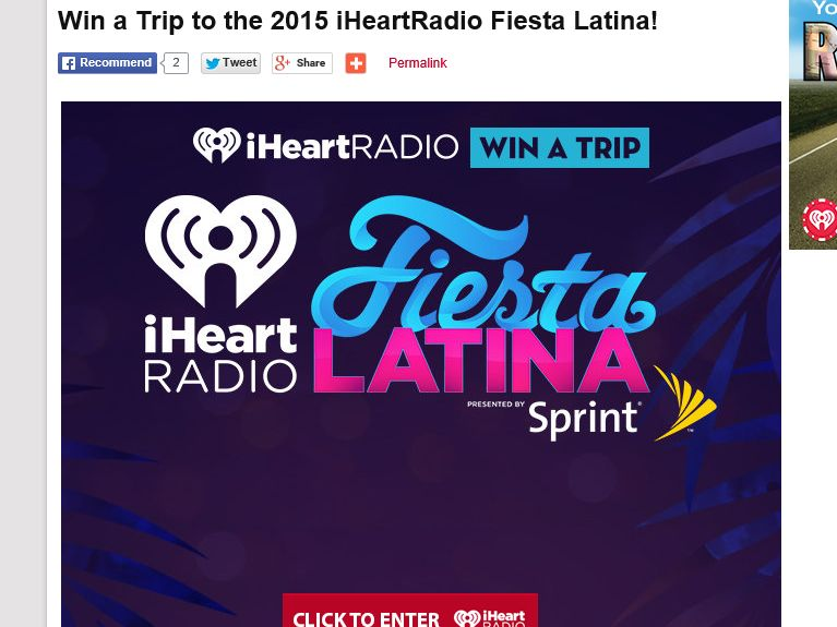 iHeartRadio Fiesta Latina Sweepstakes