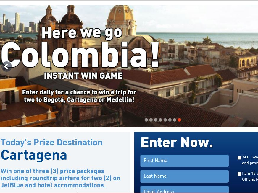 The Here We Go Colombia Instant Win Game