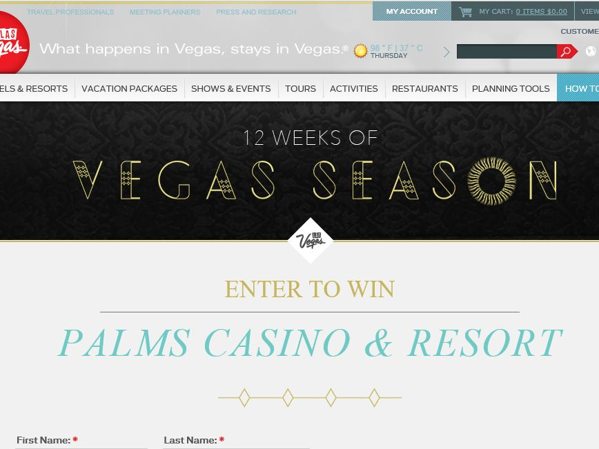 The 12 Vegas Season Sweepstakes