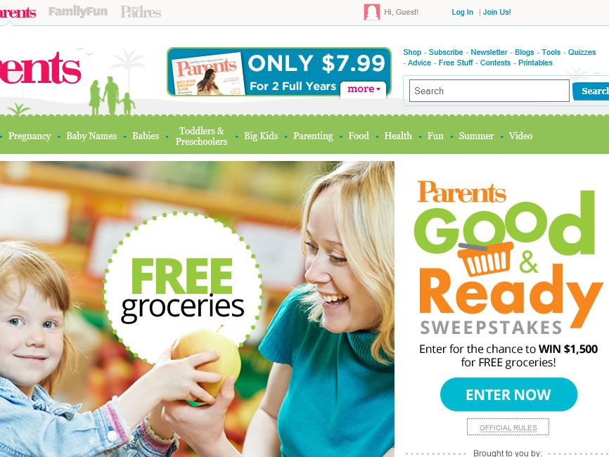 Parents Good and Ready Sweepstakes