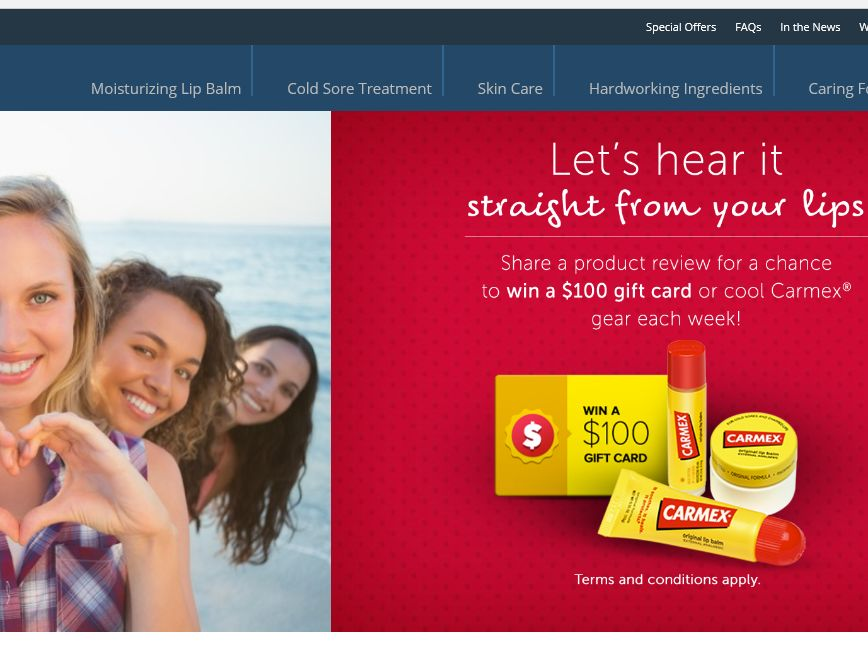 "The CARMEX ""Straight From Your Lips"" Sweepstakes"