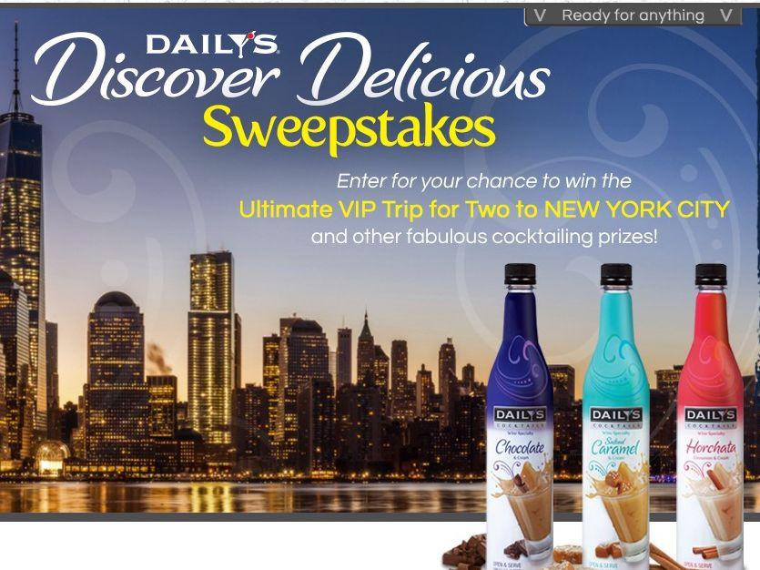 The Daily's Cocktails Discover Delicious Sweepstakes