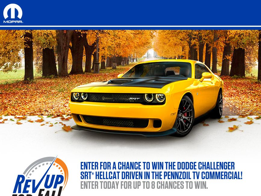 The Mopar Rev up for Fall Sweepstakes
