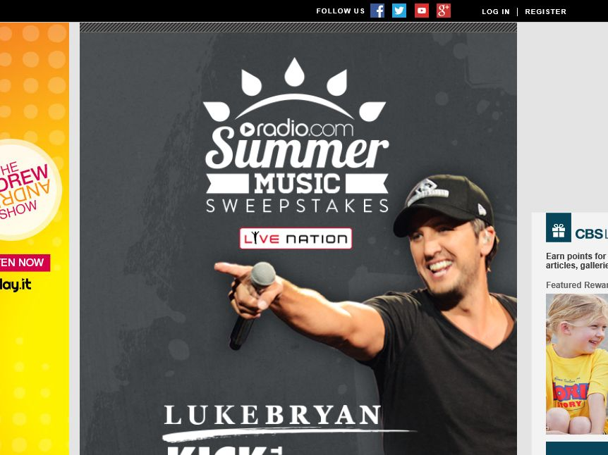 The Radio.com Luke Bryan Summer Music Sweepstakes