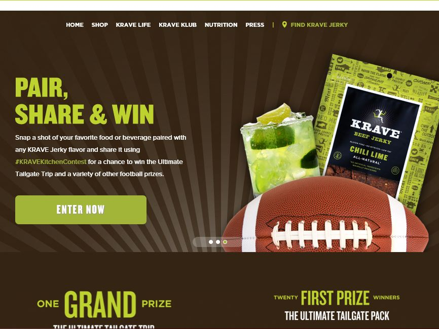 """KRAVE Jerky """"Pair, Share & Win"""" Contest"""